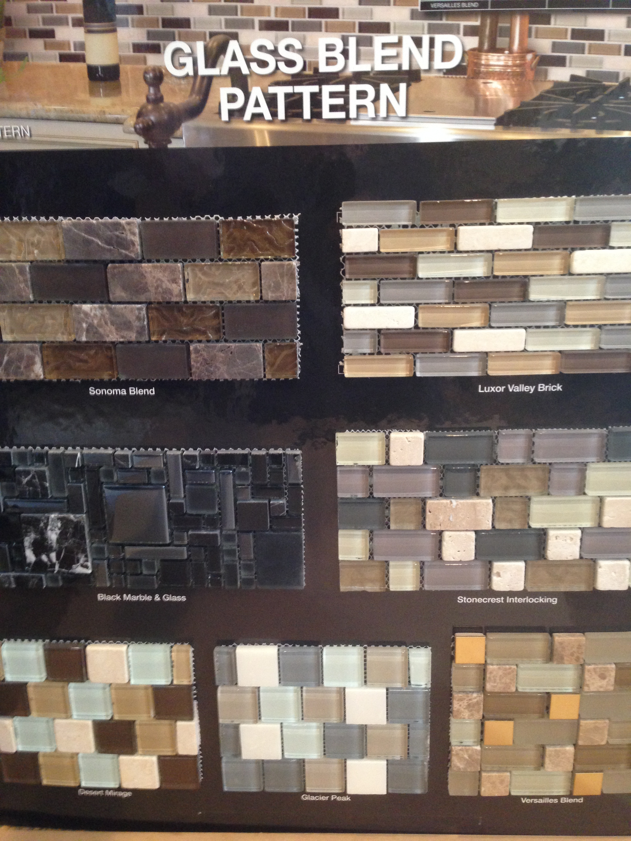 collection blend interlocking tiles collection crystal glass tiles