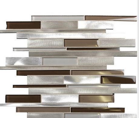 glass metal tiles for backsplash and other decorative area