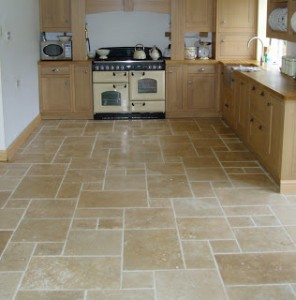 Perfect Travertine Tile Floor Carlsbad