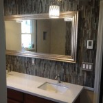 Glass Tile Bathroom Accent Wall