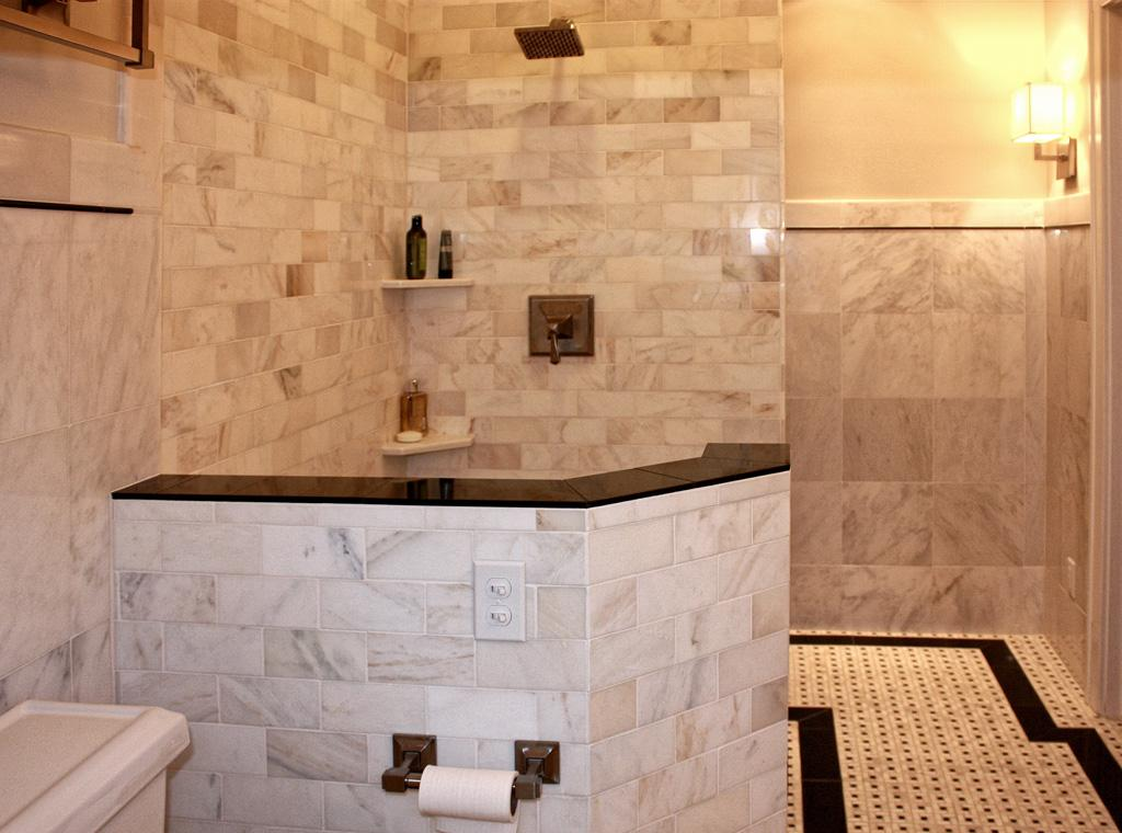 Shower24L Carrera Marble Tile Shower Tile Floor_full. Marble Bath